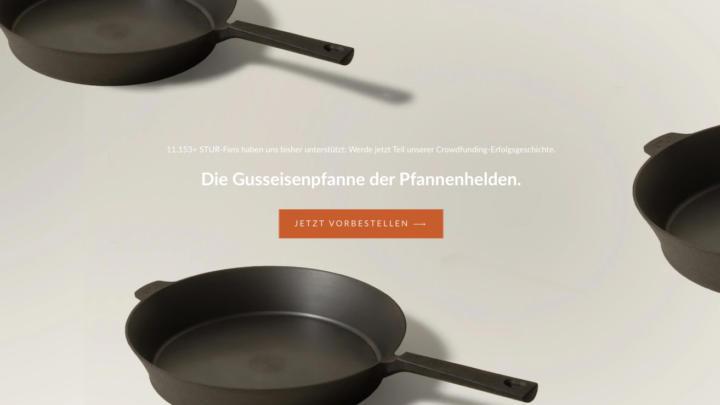 Die STUR-Pfanne bei sturcookware.de